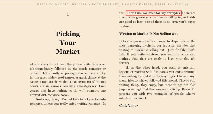 Writing to Market 1